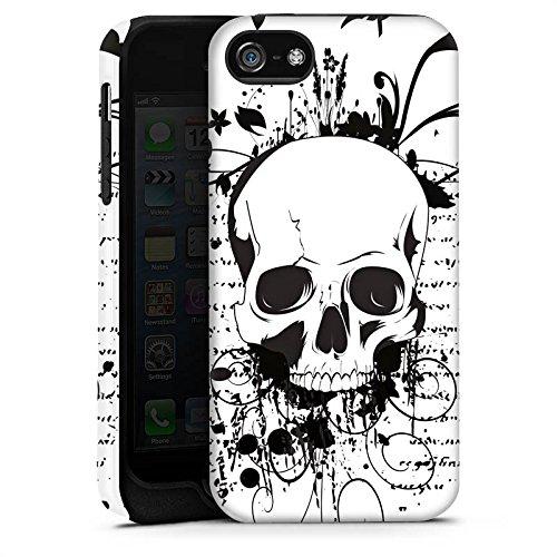 Apple iPhone X Silikon Hülle Case Schutzhülle Schädel Ornamente Rocker Tough Case matt