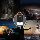 Panpany 440 Lumen Outdoor Laterne tragbares wiederaufladbares Camping Licht IP65 wasserfest Laterne Licht mit 2A Ausgang USB aufladen( stoßgeschützt, schwarz) -
