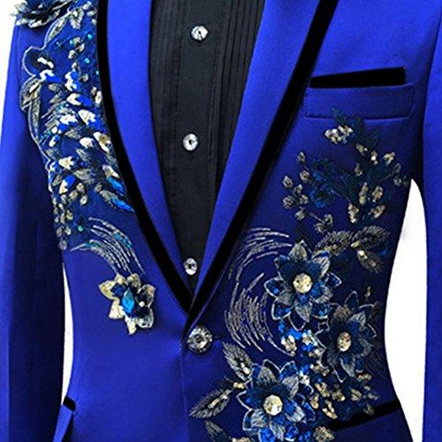 Judi Dench@ Matrimonio giacca modello maschile giacche smoking del partito di promenade uomo Blazer Blu