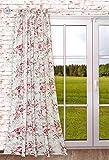 Gardinenschal ROMANTIKA 135 x 245 cm Blickdicht romatischer Landhausstil, Vintage