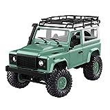 Upxiang 1:12 4WD RC Auto Front-LED-Licht Off-Road Militär Rock Crawler Monster Truck Komplette Fahrzeugversion, Keine Manuelle Installation Erforderlich (Grün)