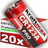 20er Pack CR123 / CR123A Lithium Hochleistungs- Batterie für professionelle Anwendungen - Neueste Generation