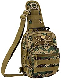 Utility 4 In 1 Bag - Multi-purpose MOLLE Shoulder Bag Chest Bag Handbag/ Backpack For Outdoor Travel Hiking Camping...