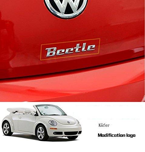 Auto Schriftzug (E296 Beetle Emblem Zeichen Badge auto aufkleber 3D Schriftzug Car Sticker Applique Metal)