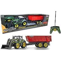 Outletdelocio. Ninco Heavy Duty. Tractor radiocontrol con pala excavadora y remolque motorizados. 8 funciones.