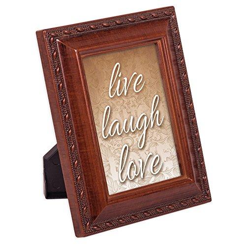 Live Laugh Love 2x 3Holzmaserung Finish geprägt Seil Bilderrahmen Tiny, magnetisch -