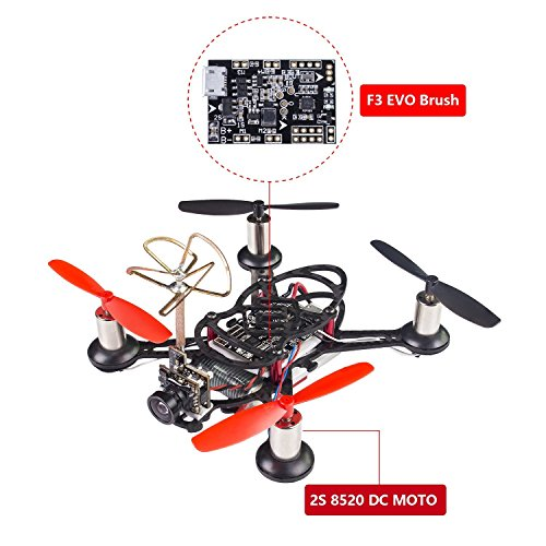 SunFounder BEE-100S 100mm Micro FPV Racing Quadcopter Drone 600TVL 5.8G 40CH 25mW...