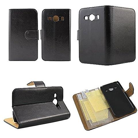 Housse / Coque Grand Luxe pour Samsung Galaxy Ace 4 SM-G357FZ + 3 films protections gratuits