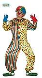 Buntes Clown Kostüm für Herren Karneval Fasching Party Geburtstag Lustig Gr. M-XL, Größe:XL