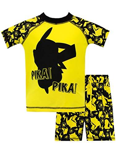 151d80bc6 Pokèmon Bañador de Dos Piezas para niño Pikachu Amarillo 6-7 Años