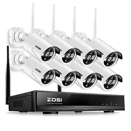 festplatte ohne strom ZOSI 8CH 960P HD Drahtlos NVR Video Überwachungssystem CCTV Funk Überwachungskamera Set für Innen und Außen, 100FT IR Nachtsicht, 1TB Festplatte
