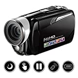 Videokamera Camcorder FHD 1080P Digitalkamera Nachtsicht 24.0MP Mit 16x Digital Zoom 3 Zoll Rotation Touchscreen