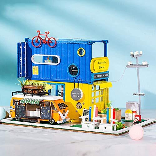 kingpo Juman634 DIY Villa Abbildung Modell Kind Gebäude Modell Innovative Container Handgemachte Valentinstag Dekoration Puzzle Spielzeug Gehirn Spiel Kind