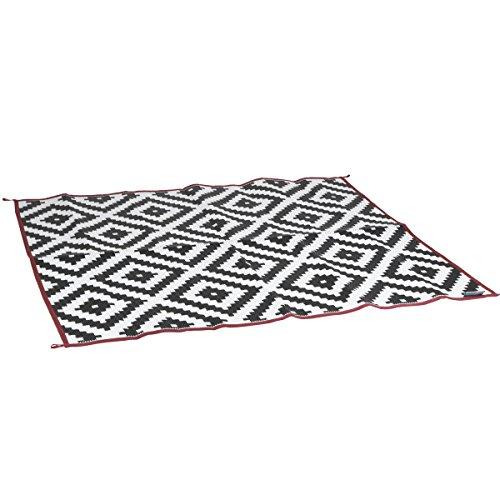 Chill-Matte Picknickdecke Zeltteppich Markisen-Teppich Bodenmatte Vorzelt-Teppich Outddorteppich Campingteppich Wohnwagen Vorzeltboden Zeltboden (180x200cm, Karos)