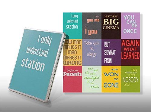 Starterkit Nr 4 - Postkarten Denglish Set - Geschenkdose for Engleutsch-Oncatcher - 12 x Best of Denglisch Sprüche zum Verschenken - Geschenk für Lehrer - Englisch lustig -