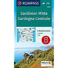Sardinien Mitte, Sardegna Centrale: 4 Wanderkarten 1:50000 im Set inklusive Karte zur offline Verwendung in der KOMPASS-App. Fahrradfahren. (KOMPASS-Wanderkarten, Band 2498)