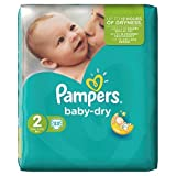 Pampers Baby Dry Windeln Windeln Carry Pack – Größe 2 (Mini), 33 Windeln
