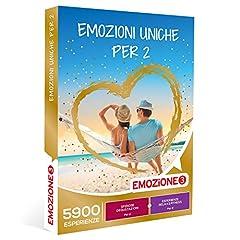 Idea Regalo - EMOZIONE3 - Emozioni uniche per 2 -  Cofanetto Regalo Multitema  - 1 attività a scelta tra benessere, fitness o sfiziose degustazioni per 2 persone