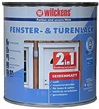 Wilckens 2-in-1 Fenster- & Türenlack seidenmatt, 375 ml, weiß 12993100030