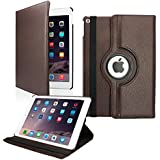 Infomatica 360 Degree Rotating Leather Case Cover Stand For Apple IPad Air 2 IPad 6 (Air2 - Brown)
