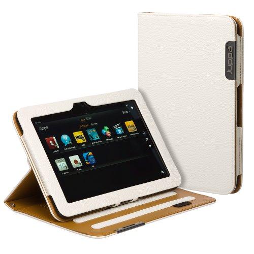 Juppa® Executive Leder Hülle Tasche mit Premium Interieur Leder umfasst Ständer Feature, Kartenhalter, Displayschutzfolie, Tragegurt und Eingabestift Kugelschreiber für Amazon Kindle Fire HD 8.9