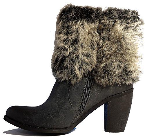 Bottes élégants, chaussures femme, Stiletto talons hauts, modèle 11094104003574, vert, marron, gris et noir, différents modèles et tailles. Noir modèle E.