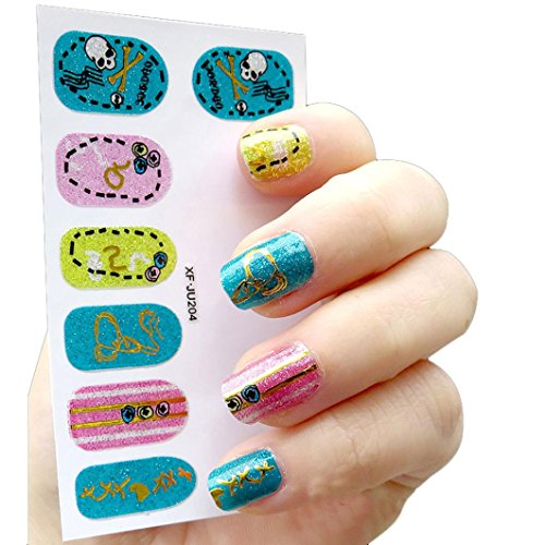 Xshuai 60 * 95MM Frauen DIY Nagel-Aufkleber-Wasser-Übergangsaufkleber-Finger-Nagel-Kunst-Abziehbilder - Für Halloween Finger-nagel-kunst