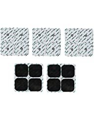 FITOP 20 Stück 50 X 50mm Metall Einrast Elektroden Pad Kompatibel mit Compex (5 Packungen)