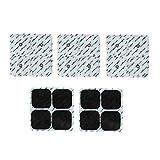 FITOP 20 Almohadillas Electrodos Para Compatible Con Compex Easysnap (5 Packs)