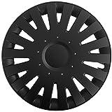 (Größe wählbar) 16 Zoll Radkappen / Radzierblenden MALA (Schwarz) passend für fast alle Fahrzeugtypen – universal