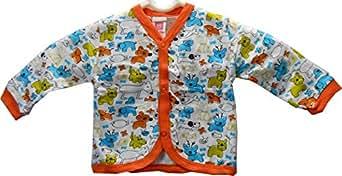 Cotton Front Open Full Sleeves T-Shirt - CartoonAnimal (3-6 Month)