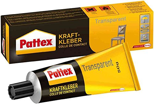 PATTEX colle de contact, transparent, avc solvant, tube 50 g