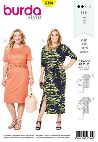 Burda Schnittmuster 6304, Kleid [Damen, Gr. 46-60] gebraucht kaufen  Wird an jeden Ort in Deutschland