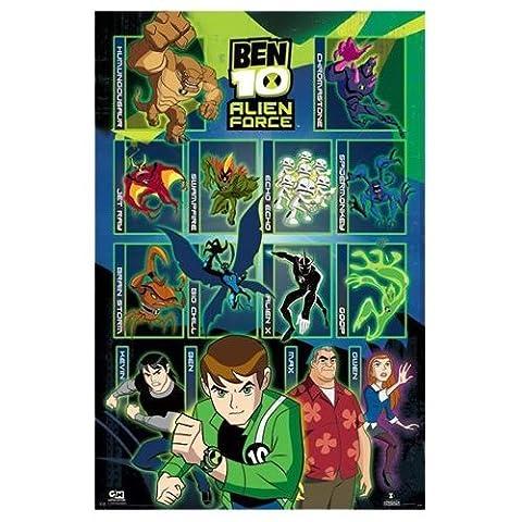 Ben 10Ten Alien Force Zeichen groß Kinder TV Poster 61x 91,5cm