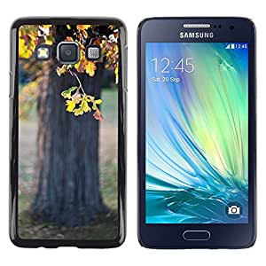 TopCaseStore / Snap On Gummi Schwarz Schutz Hülle Case Cover - Chestnut Nature Tree Sun - Samsung Galaxy A3 SM-A300