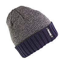 Universal Textiles� Mens Heatguard Thinsulate Winter Beanie Hat (One Size) (Grey/Blue)