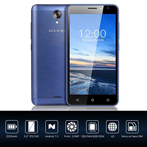 Smartphone 4G Libre Barato G one 5 0 inch  Android 7 0  1GB RAM   8GB ROM  C  mara 2MP   5MP  2200 mAh  Dual Sim  Azul