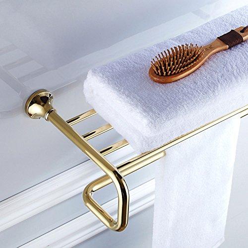 LUXYSOWERTIME Poliertes Gold Bad Hardware Set Wandmontage Handtuchhalter Rack Seifenschale Handtuchhalter Dusche Bad-Accessoires Bath Towel Rack -