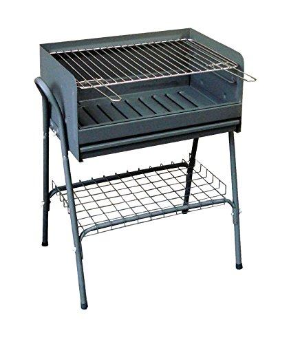 IMEX EL ZORRO 71761 Barbecue avec Grille zinguée et Plateau inférieur, Noir, 59 x 40 x 85 cm