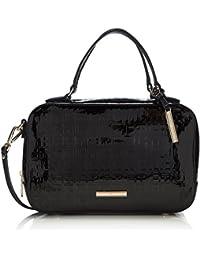 Tommy Hilfiger Trisha Duffle P , Bolso maleta para mujer, color black, talla única
