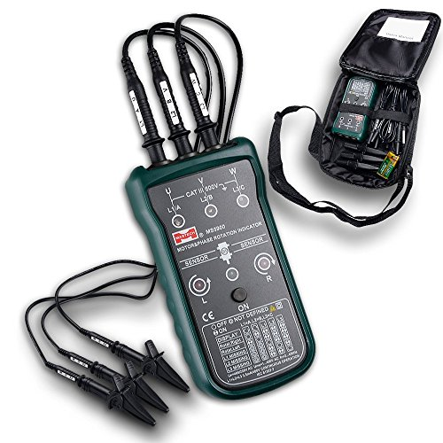 MASTECH MS5900 3 Motor Phase Rotation Indicator Meter Sequence Tester LED Field by Mastech -