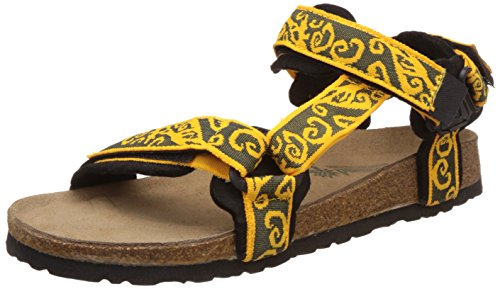 Woodland Men's Yellow and Black Leather Sandals and Floaters - 8 UK/India (42 EU)  available at amazon for Rs.1427