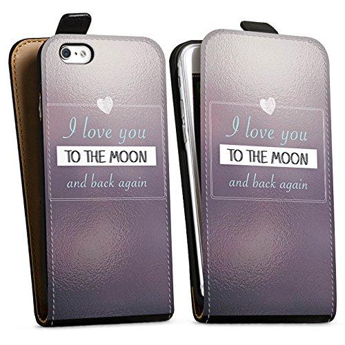Apple iPhone X Silikon Hülle Case Schutzhülle Liebe Freundschaft Statement Downflip Tasche schwarz