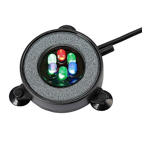 NICREW Acuario Aire Piedra, Luces Sumergibles para Peces, Luz del Acuario Cambio de Color Automático Decoración de LED Luces Sumergibles con Filtro para Burbujas