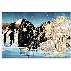 Chobits Anime Girl Wandbild 120x80cm XXL Bilder und Kunstdrucke auf Leinwand