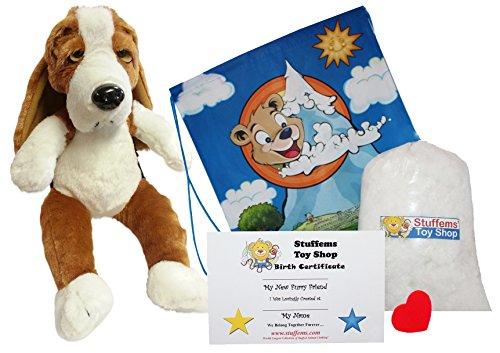 Stuffems Toy Shop Erstellen Sie Ihr eigenes Stofftier Basset Hound 16