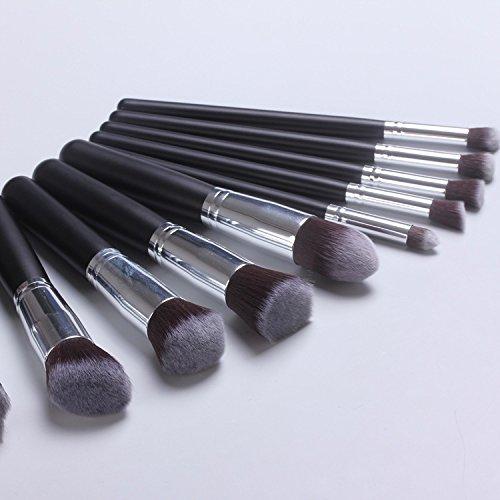 XUAN 10 brosses de maquillage noirs poignée brosse 5 gros maquillage petit 5 outils monétaires , c