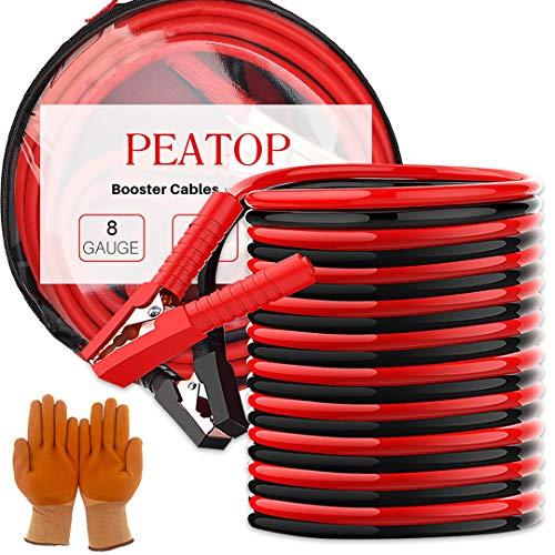Starthilfekabel schwere Pflicht 400Amp 10ft 3m Kupfer Kiefer mit Tragetasche Sicherheit Handschuhe Jumper Kabel 2 Gauge-jumper-kabel