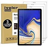 iVoler [3 Stücke Panzerglas Schutzfolie Kompatibel für Samsung Galaxy Tab S4 10.5 Zoll (T830 / T835), 9H Härte, Anti- Kratzer, Bläschenfrei, 2.5D R&e Kante