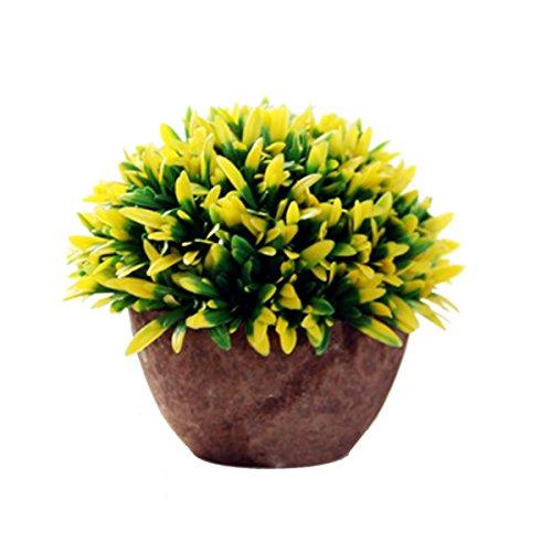 iTemer Modernas plantas artificiales con macetero con arbustos de plástico para decoración de mesa, aire libre, oficina, casa, cocina, jardín,15 x 13 cm
